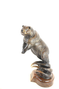 grizzly bear, Grizzly bronze, grizzly sculpture, bronze grizzly