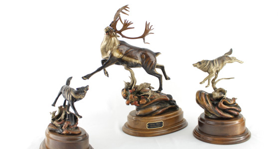 caribou, caribou bronze, LimitedEditionCaribouBronze,AlaskaBronze