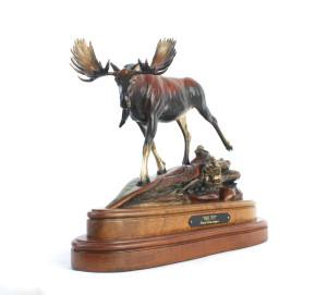 moose, sculpture, bronze, Alaskan Artist,