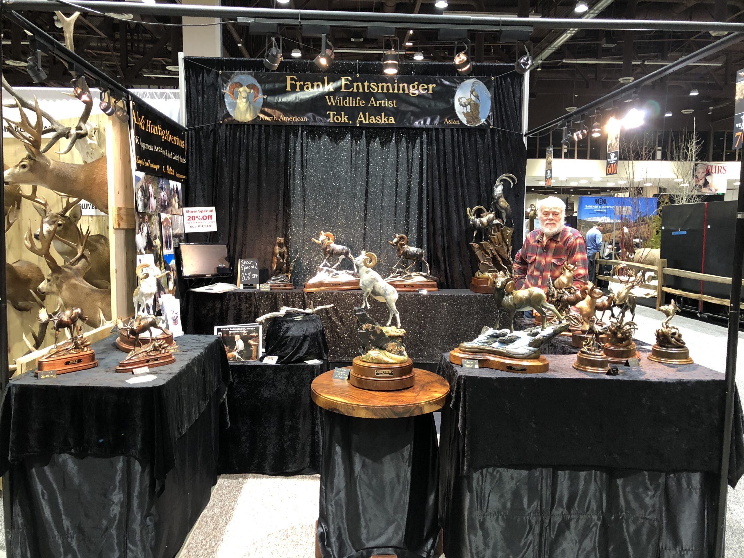 #Frank Entsminger booth #2020 WSF show Reno